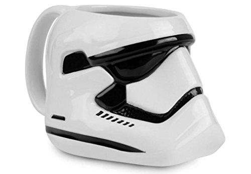 Star Wars Tasse Stormtrooper 3-D Tasse, Shaped Mug - weiß, bedruckt, aus Keramik, Fassungvermögen: ca.300 ml., im Geschenkkarton.