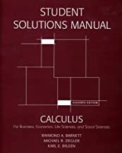 Student's Solutions Manual for Calculus for Business, Economics, Life Sciences and Social Sciences