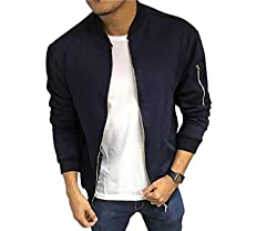 Dfine Mens Bomber Jacket with Sleeves and Zip