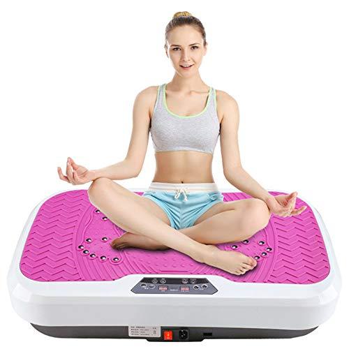 DPLQX Fitness Vibrationsplatte, Vibrationsgerät Fitnessstation Vibration Trainings Trainingsgerät, 99-Gang LeistungseinstellfaktorPi Fit-Plattform, für Erwachsene Weight Loss,Pink