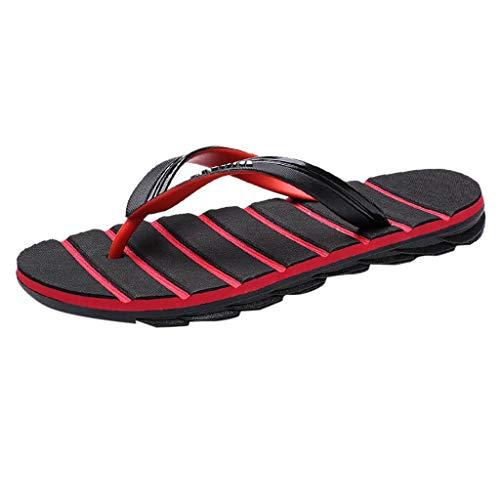 Slipper Herren,SANFASHION Männer Sommer Flip Flop Beiläufige Outdoor rutschfeste Strand Sandale Dusch- und Badeschuhe
