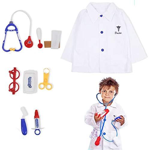 Boyigog 9 Pcs Maletin Medicos Juguete, Disfraz Medico para Niños , Juegos de Doctor Regalos para Niños 3 - 6 Años