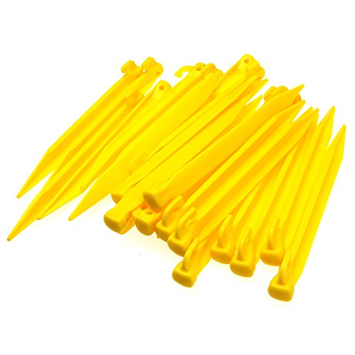 24 stks Plastic Tent Pegs Duurzame Spike Haak Awning Camping Caravan Pegs Accessoire