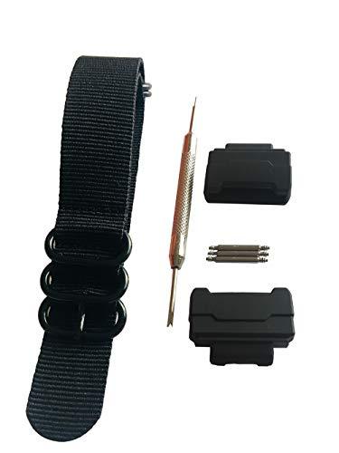 Kit de adaptadores de Correa de Reloj de Nailon RAF de 5 Anillos de conversión HD (16 mm) para Casio GShock MIL-Shock DW-5600 DW-6900 G-5700 GA-100 GDF-100 GL-7200 GLS-5600 Series