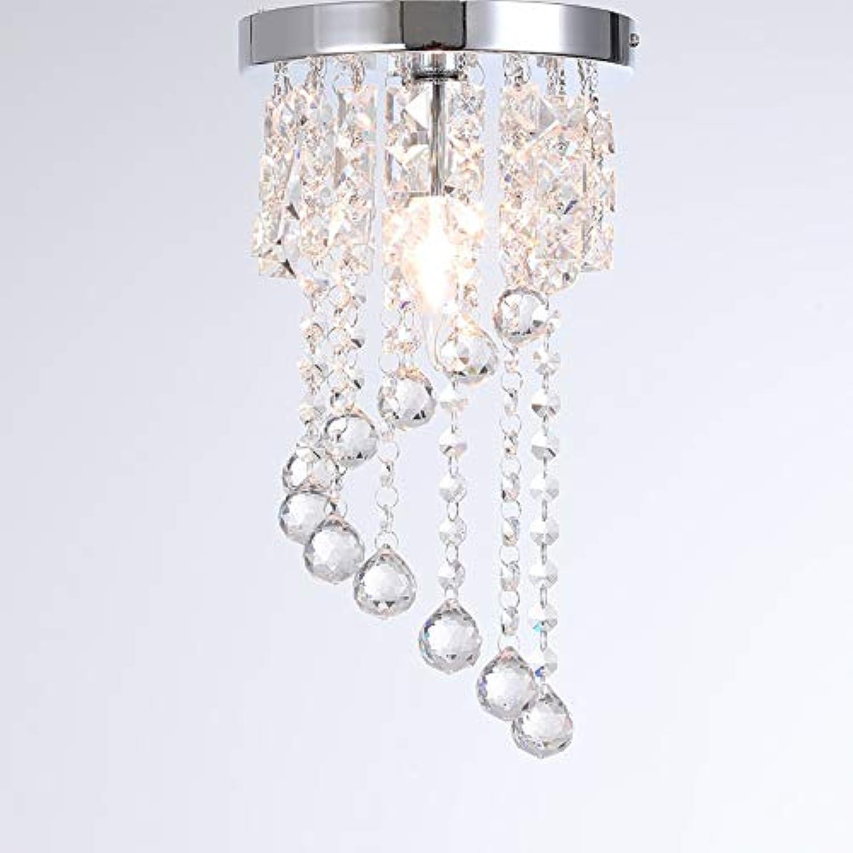 Kristall Kristallkronleuchter Whrend, E14 Lampenfassung K9 Deckenleuchte Schlafzimmer Wohnzimmer Restaurant Gang-20x34cm