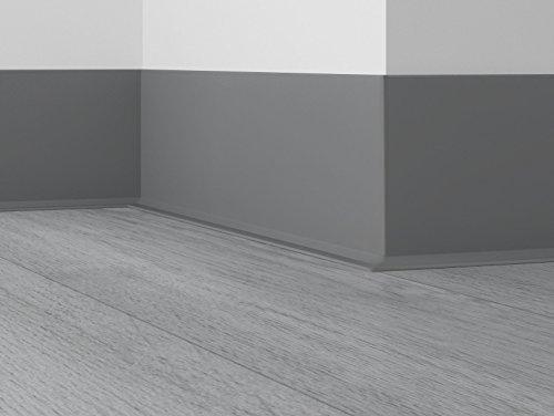 Unbekannt Döllken Selbstklebende Weichsockelleiste WLK 50 als Rolle mit 50m - 146 dunkelgrau - phthalatfreie Abschlussleiste mit klebender Rückseite Wandabschlussprofil