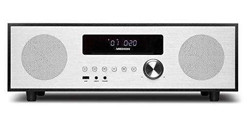 MEDION X64400 Mikroanlage mit CD und DAB+ (Stereoanlage, Kompaktanlage, Bluetooth 2.1, PLL UKW Radio, 2 x 20 Watt RMS, AMS, LED-Display)