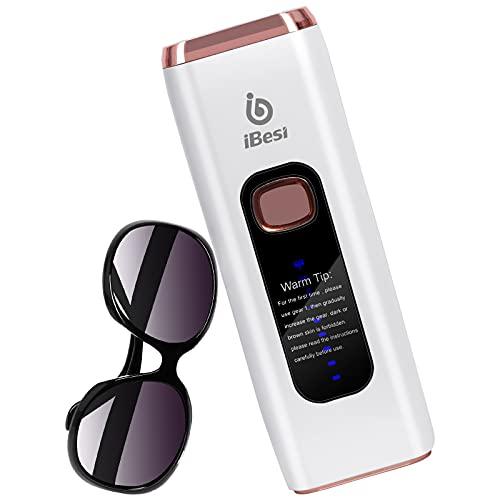 iBesi IPL Haarentfernungsgerät, Geräte Haarentfernung für Frauen und Männer mit 999,999 Blitze für dauerhaft schmerzlose Haarentfernung,Professionell Haarentfernungsgerät Heimgebrauch