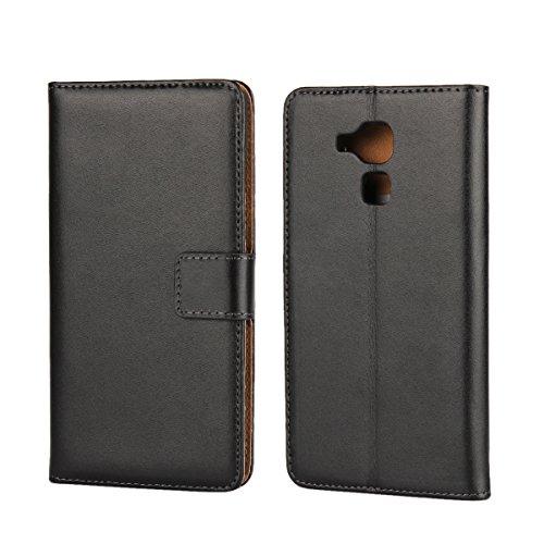 Copmob Huawei Honor 5C Hülle,Klassisch Flip Brieftasche Ledertasche Handyhülle,[Multi-Kartenslot][Standfunktion][Magnetverschluss],Schutzhülle Handyhülle für Huawei Honor 5C - Schwarz