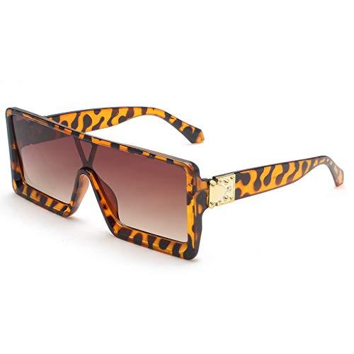 Xniral Sonnenbrillen Brillen Shades Retro Mann Frau Rechteck Rahmen Brillen(Gelb)