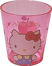 Sanrio Hello Kitty Plastic Cups 7.8 × 8.5 × 7.8 cm 260ml Dinnerware Drinkware Saucers Kitchen (Red)