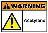 安全標識-警告標識-アセチレン警告金属錫標識金属標識