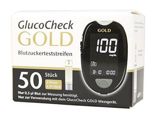 GlucoCheck Gold Blutzuckerteststreifen 50 Stück