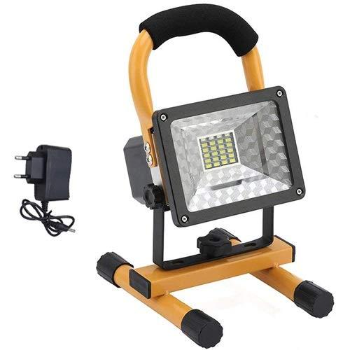 Faroles de mano Reflector recargable COB LED de luz de inundación de 30W orientable Foco reflector al aire libre camping linterna lámpara Proyecto de construcción ( Emitting Color : 30W Flood light )