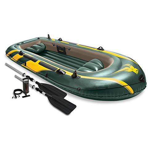 LWZ Explorador de Kayak, 4-Persona Kayak Inflable con Paddle,