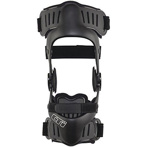 Össur CTi ® OTS Knie-Orthese, Knieschiene, einstellbare Knie-Stütze, Moto-Cross-Knie-Orthese, Surf-Orthese, Kitesurf-Kniebandage, Farbe:schwarz, Größe:XL/rechts
