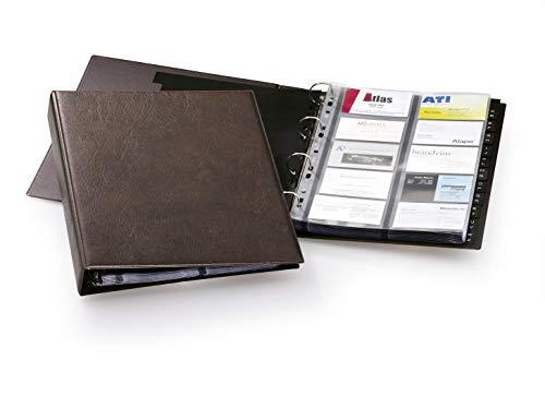 Durable Visifix A4 - Tarjetero de 20 Fundas, 400 Tarjetas, Marrón (238411)