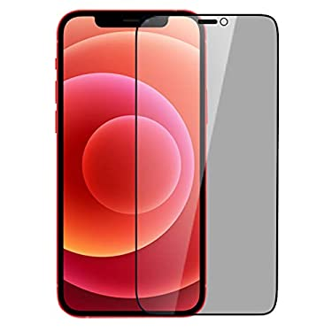 """Nillkin Tempered Glass for Apple iPhone 12 Pro Max (6.7"""" Inch) 3D Guardian Full Coverage Privacy Edge to Edge Glass 0.33mm Black"""