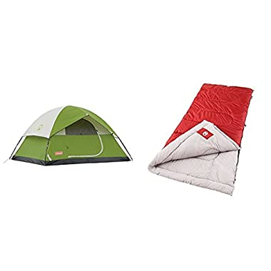 Coleman Sundome 4-Person Tent w/ 2 Coleman Palmetto Cool Weather Sleeping Bags