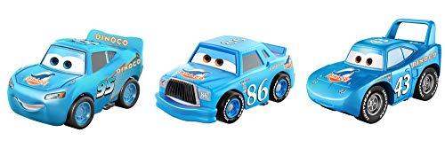 Disney Cars Mini, Assortimento con 3 Macchinine, i Modelli possono Variare, Giocattolo per Bambini 3+ Anni, GKG07