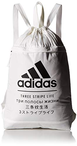 adidas Amplifier Blocked Sackpack Bolsa, blanco, talla única Unisex Adulto