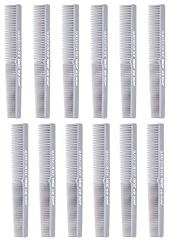 配管羽同盟7 In. Barber Comb.?Thermal Combs. Silver Edition All Purpose Styler Hair Cutting Comb #20. 1 Dz. [並行輸入品]