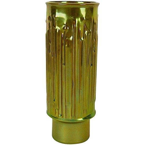 Zsolnay Pecs Modernist Vase with Golden Eosin Metallic Glaze