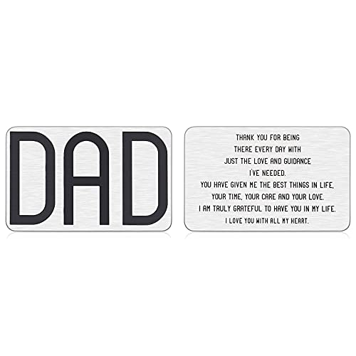 Dad Gifts from Daughter Son Birthday Engraved Wallet Insert for Daddy, Fathers Day Christmas Wedding Engagement Gifts for Father Stocking Stuffer