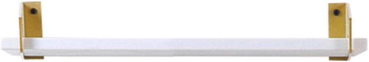 Yxsd Wit marmeren wandplank, badkamer keuken metalen rekken, wandhanger 1 laag (maat: 80x14.5cm)