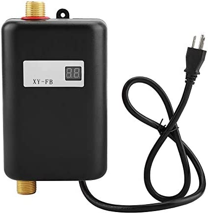 Hot Water Heater 110V 3000W Mini Electric Tankless Instant Hot Water Heater Bathroom Kitchen product image