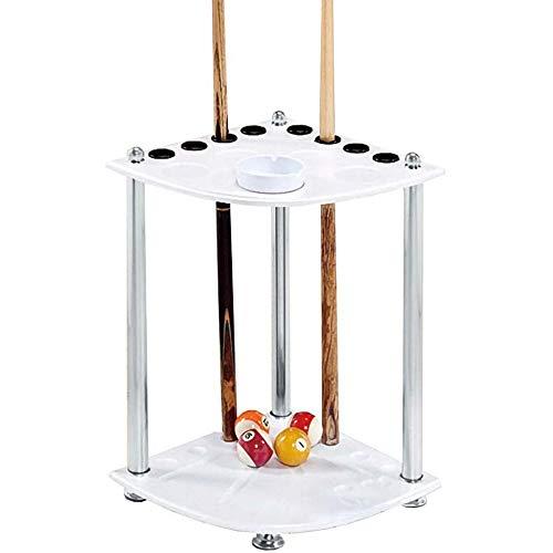 TQ Family Club-Spielzimmer Billard Snooker-Zubehör,8-Loch Billard Queueständer,Freistehendes-Pool-Stangenständer Aus Holz/Weiß / 36x60cm
