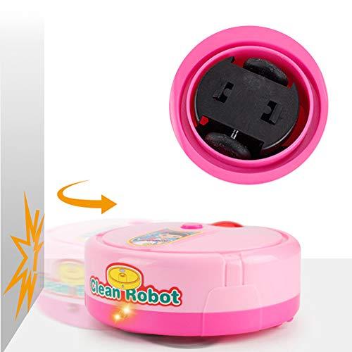Jiawu Mini Juguete eléctrico, barredora de música de Juguete, para niños pequeños(Pink)