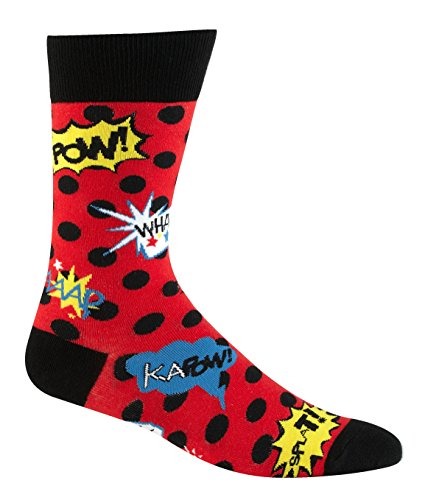 Sock It To Me Cartoon Blamo! Mens Socks, Red and Black