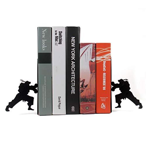 YANYAN Sujetalibros Libro Fines creativos sujetalibros Hierro Forjado Bookstand la decoración del hogar Escuela de Oficina Artículos de Oficina Estudiante Regalo Sujeta Libros (Color : Black)