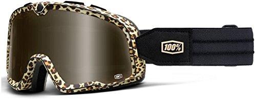 100% Barstow Classic Motocross Brille Schwarz/Weiß/Orange