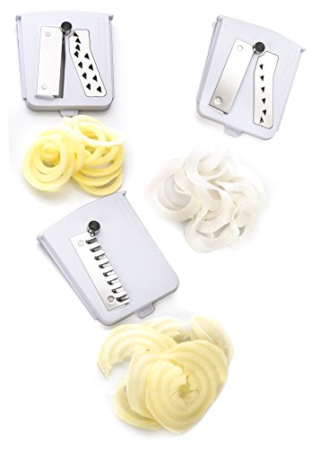 Pack of 3 Premium Blades for Brieftons 5-Blade Spiralizer (BR-5B-02), Brieftons 7-Blade Spiralizer, and Brieftons 10-Blade Spiralizer