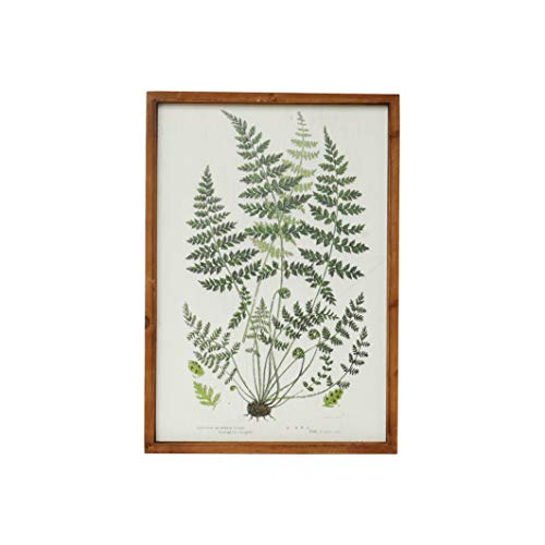 NIKKY HOME 20' x 14' Vintage Framed Green Fern Botanical Wall Art Picture Prints