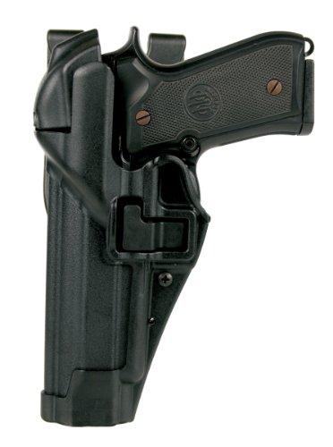 BlackhawkSerpa - Funda de pistola nivel 3 con sistema de autobloqueo, diseño resistente,acabado mate, Hombre, 44H104BK-R, Negro , Size 04 - Beretta 92/96/M9/M9A1 (Not Brigadier/Elite/92A1/96