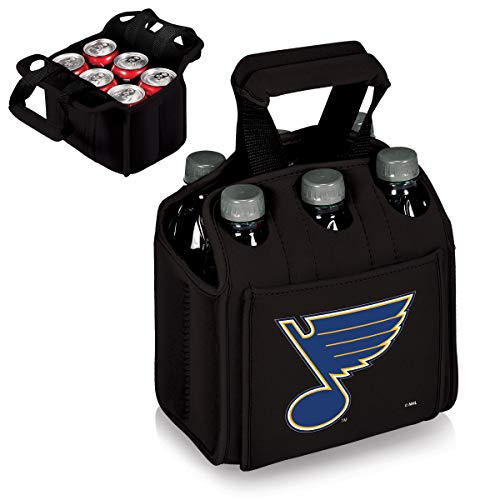 PICNIC TIME NHL St. Louis Blues Six Pack Insulated Neoprene Beverage Tote, Black