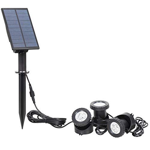Cobeky Luces solares de estanque, luces LED, luces de fuente de luz del atardecer al amanecer, focos de paisaje, adecuados para jardines, árboles, césped