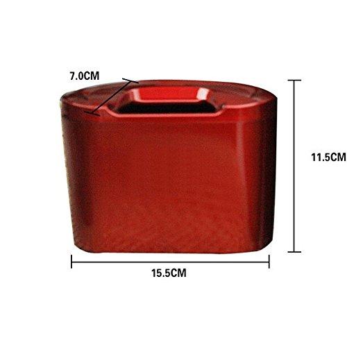 Haute qualité Plastique ABS Maison de voiture Poubelle Mini Garbage pouvez Organiseur de bureau, Rouge