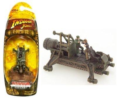 Indiana Jones Hangar 51 Rocket SLED 3 Inch Titanium Series Kingdom of The Crystal Skull Die-Cast Vehicle