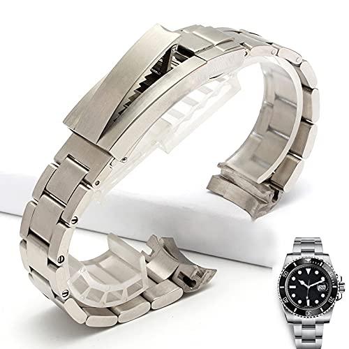 LvSenLin Reloj Pulsera Correa De Metal Acero Inoxidable Reloje Reloj Reloj Correa Malla Pulsera Metal Correa Reemplazable para Hombre Mujer