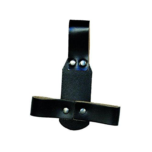 Zangenhalter aus Rindleder, schwarz