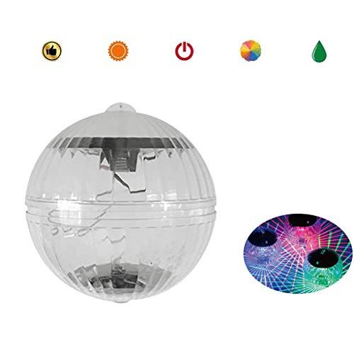 AJDGL Solar Schwimmende Lichter Teich wasserdichte Lichter, Led-Lampe Globus Licht 7 Farbwechsel Runde Tauch Led-licht für Pool Badewanne Party Wohnkultur (3 Packs)