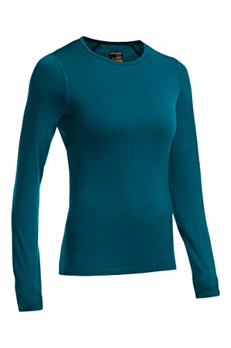 Icebreaker Damen Funktionsunterhemd Oasis Langarm Crewe, night, XS, 100514