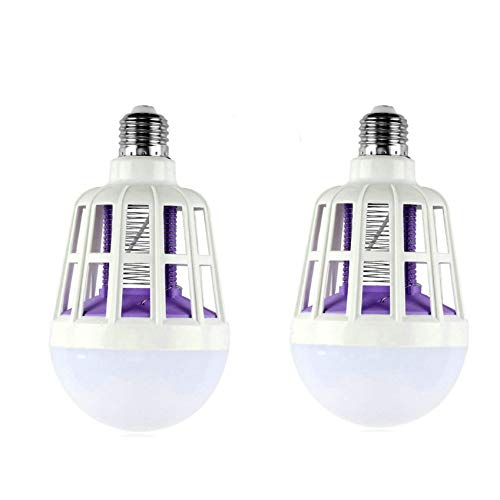 GuDoQi 2 Paquets Moustiques Killer Ampoule LED 220V 15W Moustiquaire Réglable Killer Lampe Piège Électrique Lumière Électronique Mouche À Insectes Maison D'Intérieur