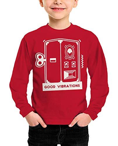 tostadora - T-Shirt Gute Schwingungen - Kind Rot XXL