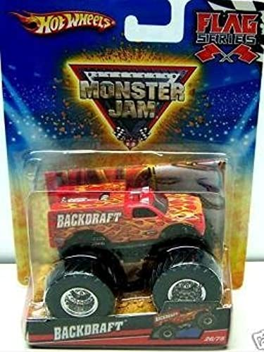 mejor marca Hot Wheels Monster Jam 2010 Backdraft Flag Series Series Series  26 75, 1 64 Scale (Small Truck) by Mattel  lo último