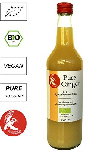 Bio Gingembre concentré–Qualité concentré de contrôle angebautem peruanischen bio Gingembre–Sans additifs, sans sucre